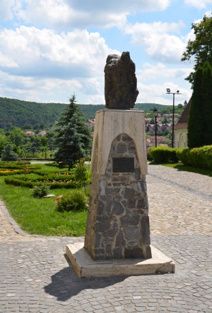 Bust of Vlad Țepeș in Sighişoara, Romania