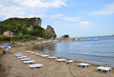 Beach at Küçük Limanı in Amasra, Turkey