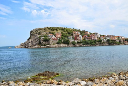 Amasra from the bus terminal in Amasra, Turkey