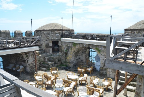 Café on the city walls in Sinop, Turkey