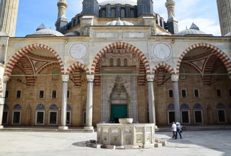 Courtyard at Selimiye Camii in Edirne, Turkey