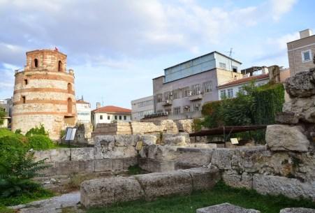 City walls of Hadrianopolis in Edirne, Turkey