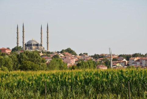 View of Edirne and Selimiye Camii in Edirne, Turkey