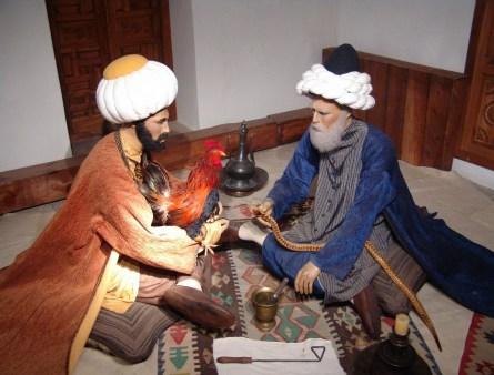 Alternative medicine at the II. Beyazıt Külliyesi Sağlık Müzesi in Edirne, Turkey