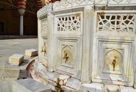 Şadırvan at Selimiye Camii in Edirne, Turkey