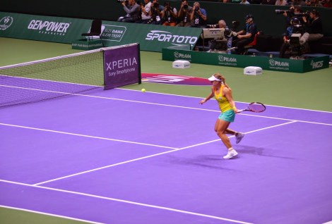 Angelique Kerber in the 2012 WTA Championships at the Sinan Erdem Spor Salonu in Bakırköy, Istanbul, Turkey