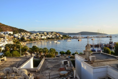 Small harbor in Bodrum, Turkey