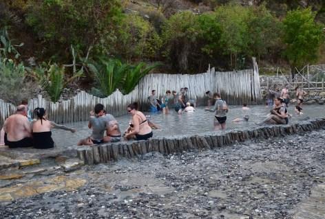Mud bath near Dalyan, Turkey