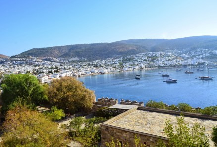 View of Bodrum at the Castle of St. Peter in Bodrum, Turkey