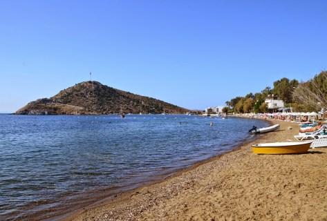 Beach in Gümüşlük, Turkey