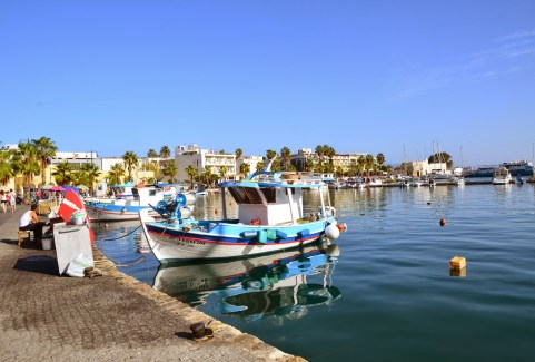 Harbor in Kos, Greece
