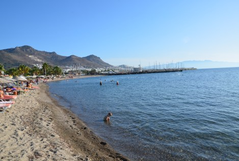 Beach in Turgutreis, Turkey