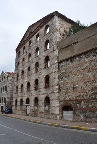 Old flour factory in Paşalimanı, Ιstanbul, Turkey