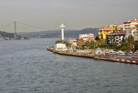 View to the north from Kız Kulesi in Üsküdar, Istanbul, Turkey