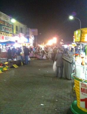 Street market in Bursa, Turkey