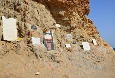 Memorials at Abu Galom in Sinai, Egypt