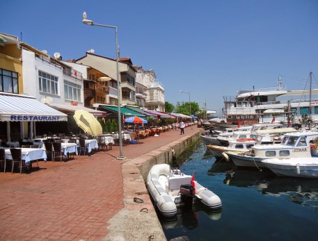 Fish restaurants on Burgazada, Adalar, Istanbul, Turkey
