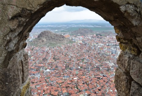 The view from Afyon Kalesi in Afyon, Turkey