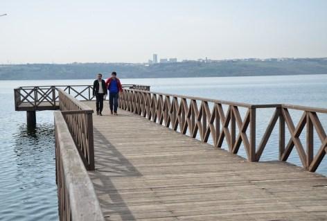 Pier in Küçükçekmece, Istanbul, Turkey