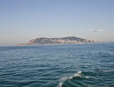 Kınalıada from the ferry in Kınalıada, Adalar, Istanbul, Turkey