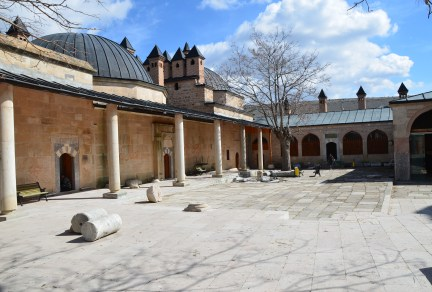 Courtyard at Seyit Battal Gazi Külliyesi in Seyitgazi, Turkey
