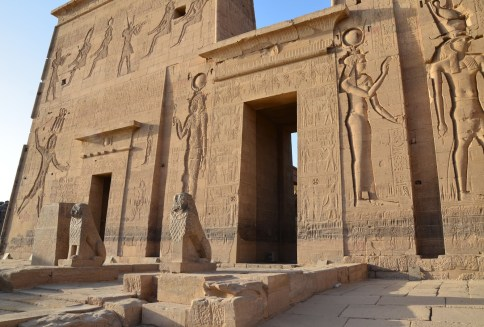 Temple of Isis at Philae Temple on Agilkia Island, Egypt