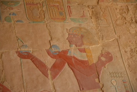 Chapel of Anubis at the Temple of Hatshepsut in Luxor, Egypt