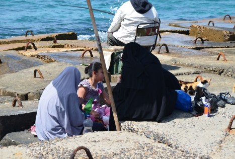 Picnic by the sea in Alexandria, Egypt