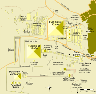 Map of the Giza Pyramid Complex by MesserWoland in Egypt