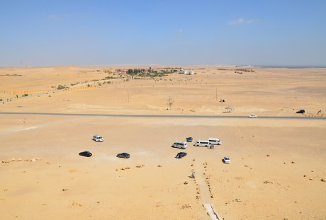 View from the Red Pyramid in Dahshur, Egypt