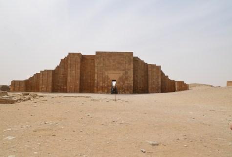 Colonnaded entrance of the Step Pyramid of Djoser at Saqqara, Egypt