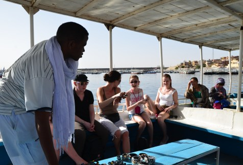The boat ride to Agilkia Island in Egypt