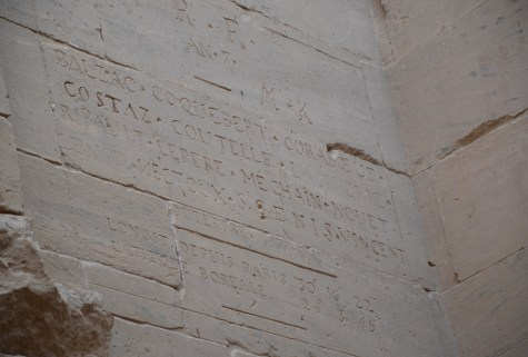 Graffiti by Balzac at Philae Temple on Agilkia Island in Egypt