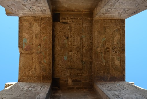 Entrance at the Temple of Edfu, Egypt