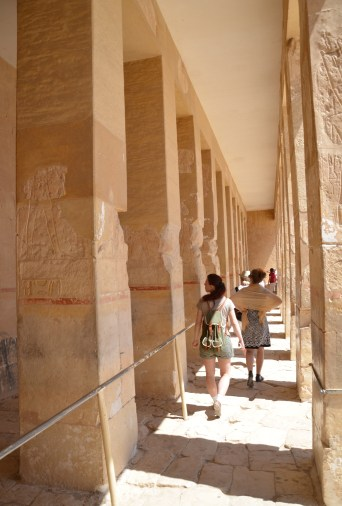 Punt Expedition Colonnade at the Temple of Hatshepsut in Luxor, Egypt