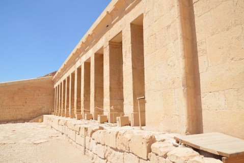 Birth Colonnade at the Temple of Hatshepsut in Luxor, Egypt