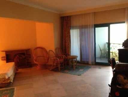 My room at Montillon Grand Horizon Beach Resort in Hurghada, Egypt