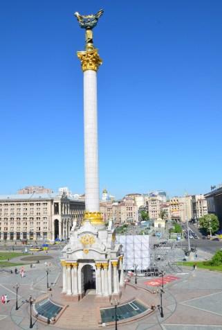 Berehynia Monument at Maidan Nezalezhnosti in Kiev, Ukraine