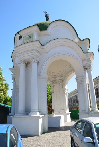 Fountain of Samson in Podil, Kiev, Ukraine