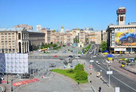 Maidan Nezalezhnosti in Kiev, Ukraine