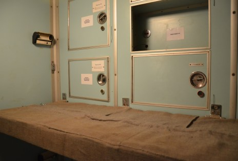 Living quarters in the Unified Command Post at Strategic Missile Forces Museum near Pobuzke, Ukraine