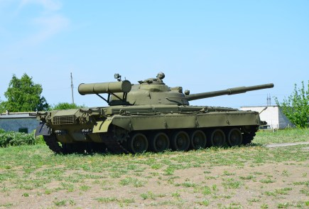 Tank at Strategic Missile Forces Museum near Pobuzke, Ukraine