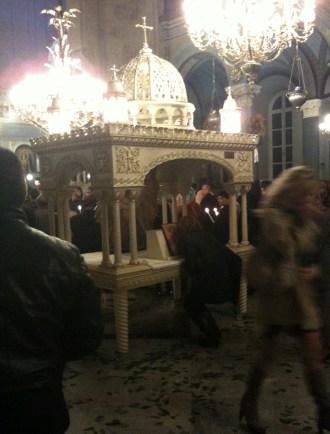 Resurrection service at Agia Triada Taksim, Beyoğlu, Istanbul, Turkey