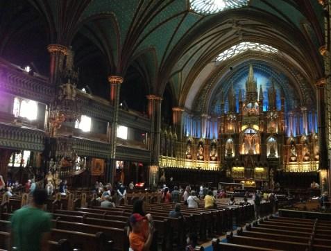 Basilique Notre-Dame de Montréal in Vieux-Montréal, Québec, Canada