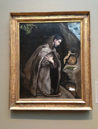 Saint Francis Kneeling in Meditation by El Greco (1595/1600) at the Art Institute of Chicago