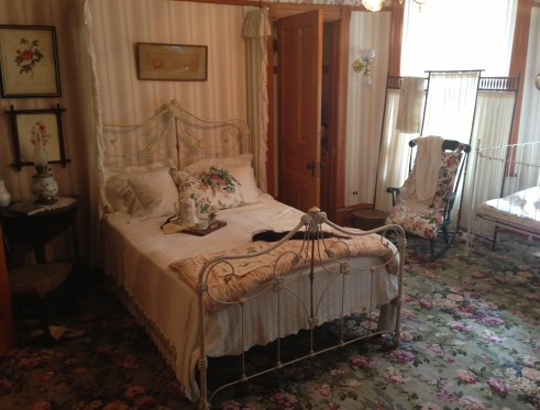 Hemingway's mother's bedroom at the Ernest Hemingway Birthplace in Oak Park, Illinois
