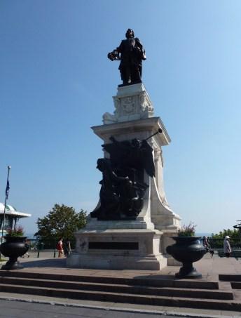 Samuel de Champlain monument in Québec, Canada