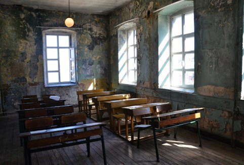 Classroom at Ioakimion School for Girls in Fener, Istanbul, Turkey