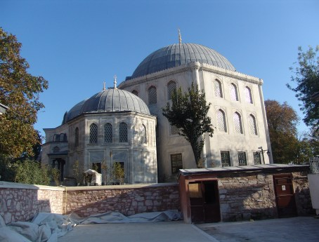 Tomb of Princes (left) and Tomb of Murat III (right) at Hagia Sophia in Istanbul, Turkey