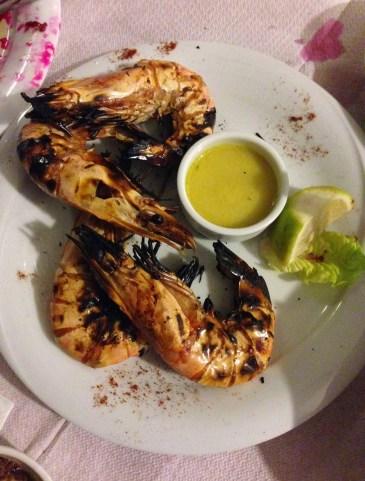 Shrimp at Bahari in Karfas, Chios, Greece